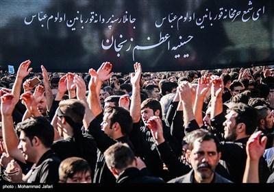 عزاداران حسینیه اعظم زنجان