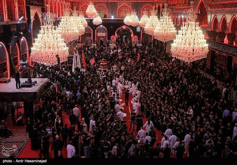 عزاداری شب تاسوعا در کربلای معلی