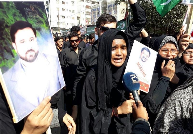 شیعہ لاپتہ افراد کی حمایت میں تیسرے روز بھی احتجاج + تصاویر