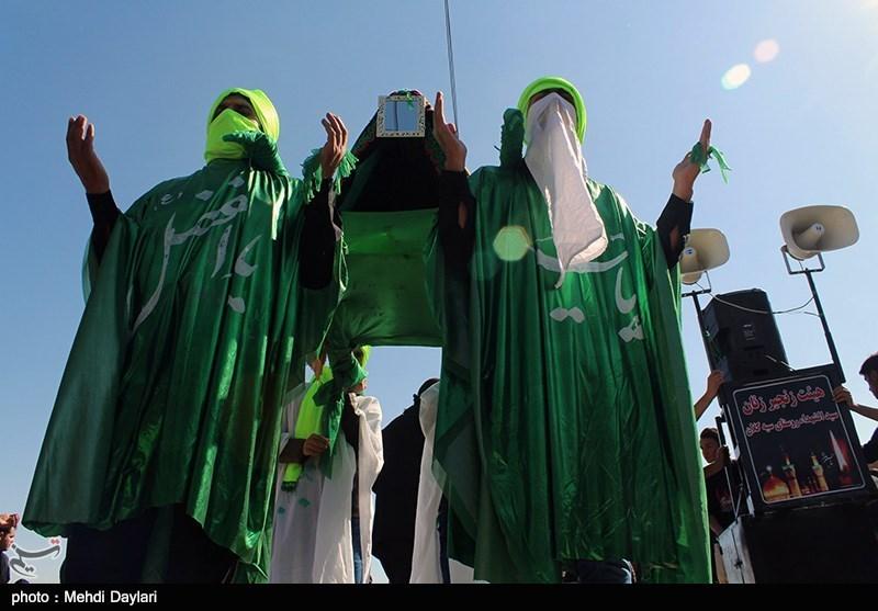 مراسم سنتی علم گردانی در بندر دیر برگزار شد