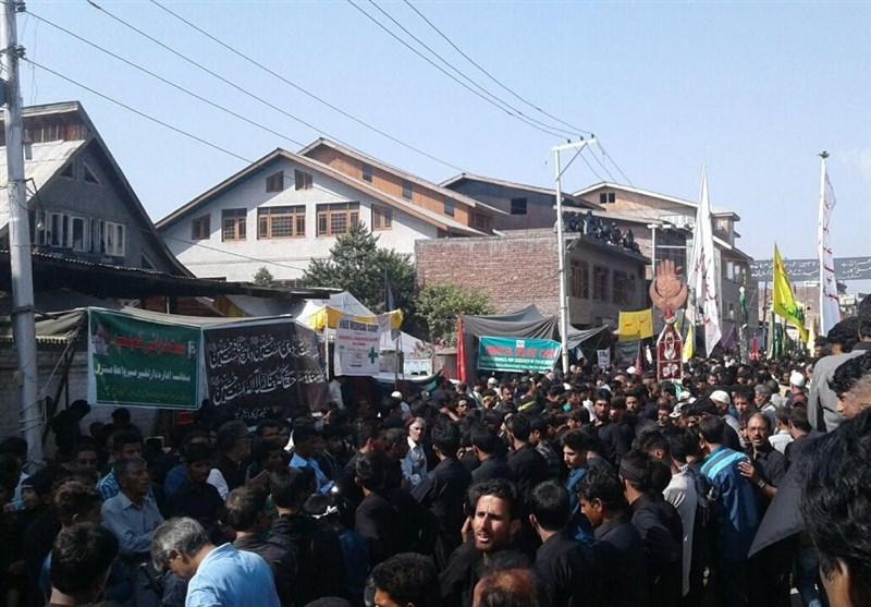 مقبوضہ کشمیر میں عاشورای حسینی کا جلوس + تصاویر