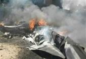 سقوط یک فروند پهپاد ارتش تروریست آمریکا در سوریه