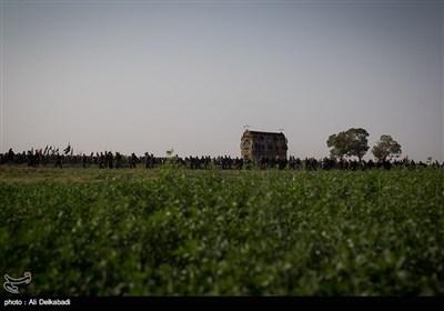 آیین نخل گردانی در روستای مزینان سبزوار