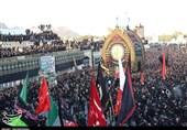 یزد| مراسم نخلبرداری ظهر عاشورا در حسینیه کوشکنو اردکان+فیلم