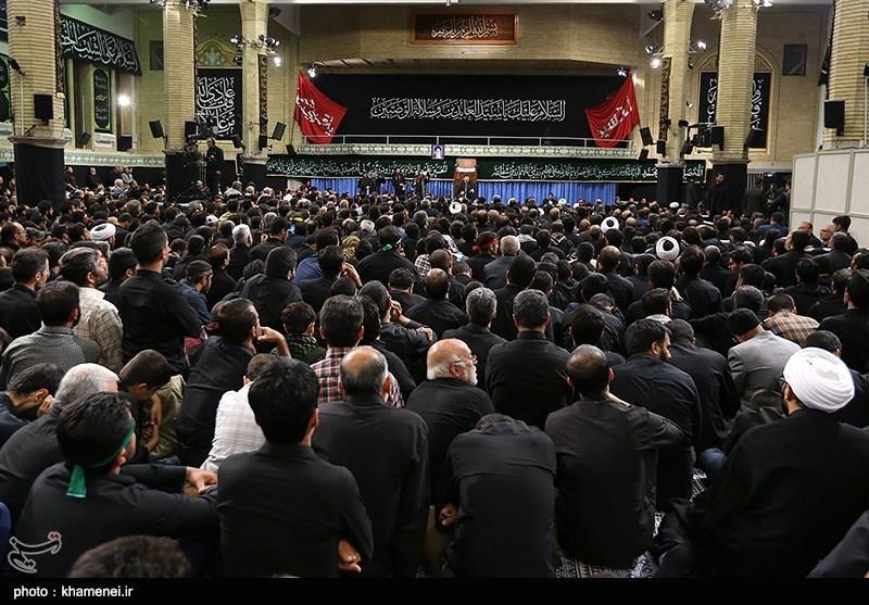 آخرین شب عزاداری ایام محرم در حسینیه امام خمینی(ره) با حضور مقام معظم رهبری