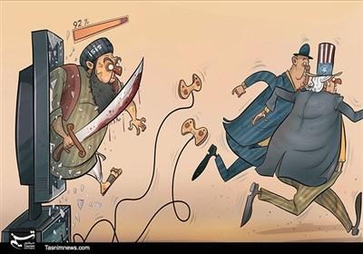 کاریکاتور/داعش پستان مادرخود را گازگرفت!