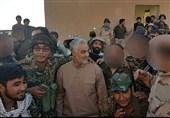 سرلشکر قاسم سلیمانی و فاطمیون در مرز عراق و سوریه