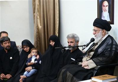 دیدار خانواده شهید محسن حججی با رهبر معظم انقلاب