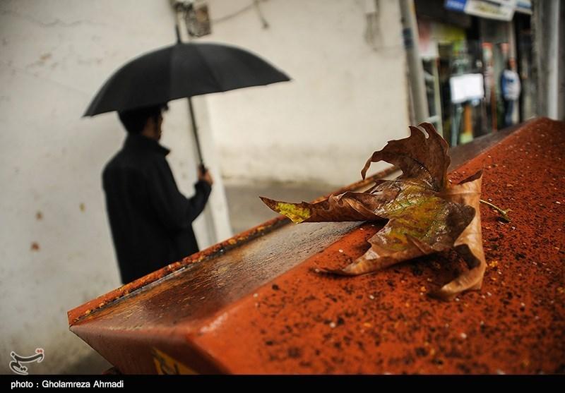 بارش اولین باران پاییزی در ساری