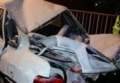 سقوط سنگ بر روی خودرو در هراز