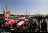 آیین تشییع پیکر 119 شهید تازه تفحص شده در اهواز آغاز شد