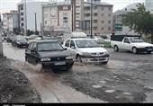 تشدید مشکلات شهری در رشت با آغاز فصل بارندگی+فیلم