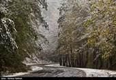 نخستین برف پاییزی در ارتفاعات اسالم به خلخال
