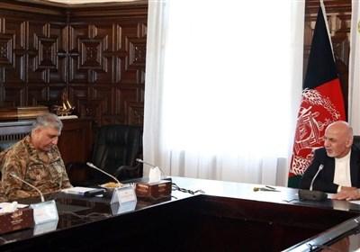 ملاقات فرمانده ستاد ارتش پاکستان با رئیس جمهور افغانستان