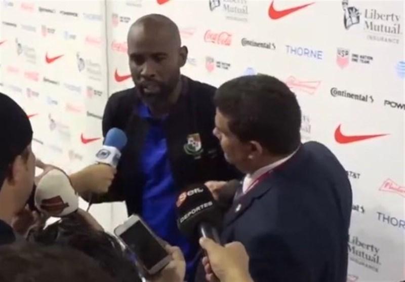 درگیری لفظی کاپیتان تیم ملی پاناما با یک خبرنگار: میتوانم بگویم تو یک احمقی اما نمیگویم!