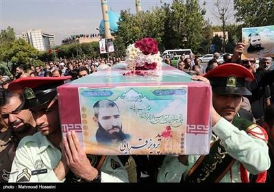 تشییع شهید تازه شناسایی شده پرویز قرایی در سازمان صدا و سیما