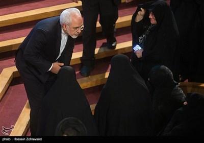 محمدجواد ظریف وزیر امورخارجه در همایش آیتالله هاشمی رفسنجانی و 8 سال دفاع مقدس