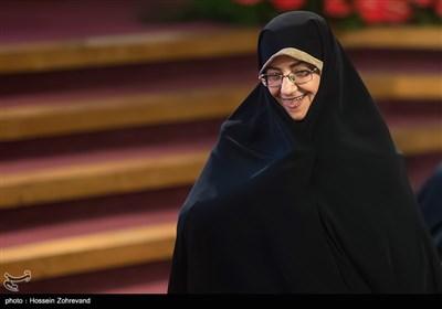 اشرف بروجردی رئیس کتابخانه ملی ایران در همایش آیتالله هاشمی رفسنجانی و 8 سال دفاع مقدس
