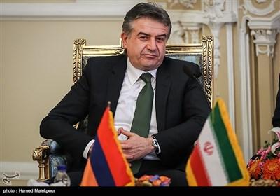 کارن کاراپتیان نخست وزیر ارمنستان در دیدار با علی لاریجانی رئیس مجلس شورای اسلامی