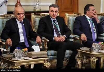هیئت همراه نخست وزیر ارمنستان در دیدار با علی لاریجانی رئیس مجلس شورای اسلامی