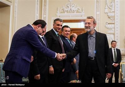 دیدار نخست وزیر ارمنستان و هیئت همراه با علی لاریجانی رئیس مجلس شورای اسلامی