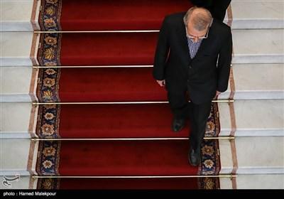 ورود علی لاریجانی رئیس مجلس شورای اسلامی به محل دیدار با نخست وزیر ارمنستان