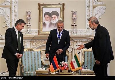 لقاء لاریجانی ورئیس وزراء ارمینیا
