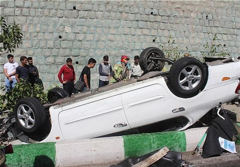 البرز| تصادف تریلی و سمند در اتوبان قزوین -کرج 2 کشته و یک مصدوم بر جای گذاشت