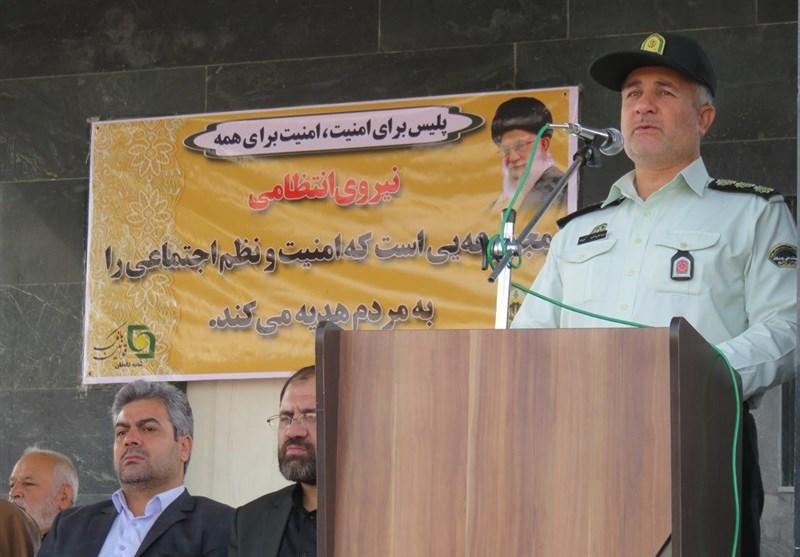 صبحگاه مشترک نیروهای نظامی و انتظامی شهرستان دامغان برگزار شد