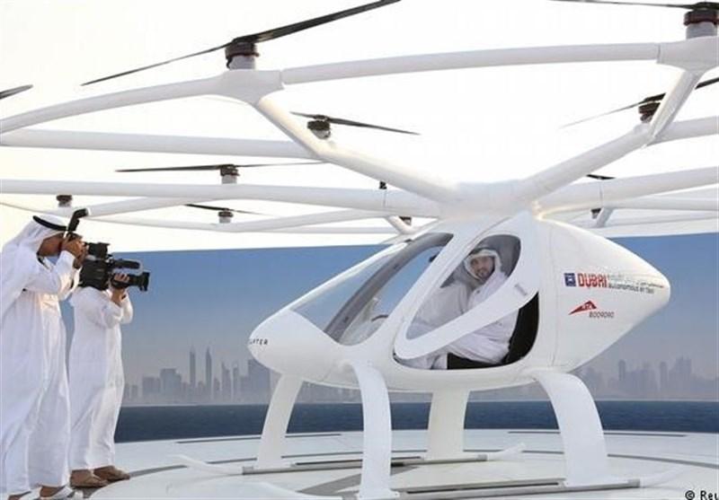 اولین «تاکسی پرنده» در دبی راه اندازی شد + تصویر