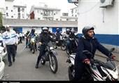 برگزاری رژه موتورسیکلتسواران قانونمند در رشت + تصاویر
