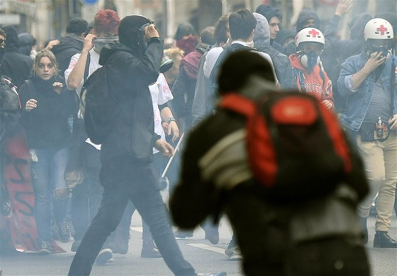 Tear Gas Used in Paris as Strike against Macron's Labor Reforms Grips France