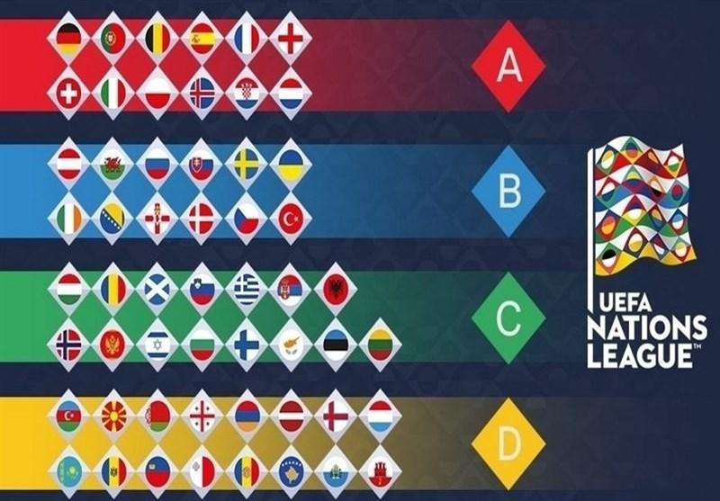 ترکیب گروههای چهارگانه لیگ ملتهای اروپا مشخص شد