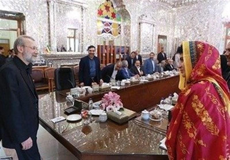 راحیلہ درانی کی ایرانی پارلیمنٹ کے اسپیکر سے ملاقات