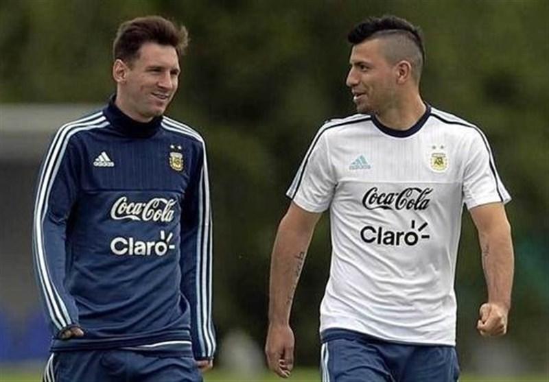 آگوئرو: مسی به خاطر پول از بارسلونا نمیرود