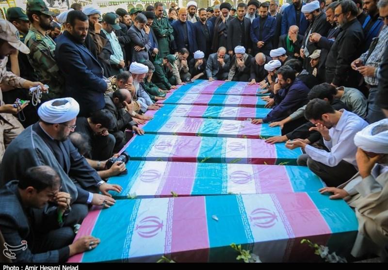 مراسم تشییع شهدای گمنام در قم به روایت تصویر