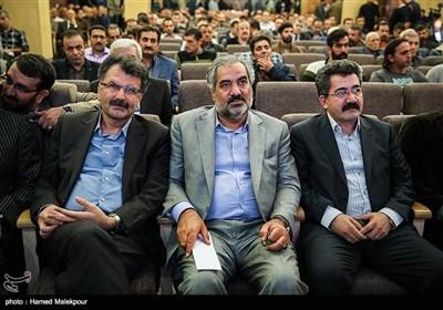بهمن مرادنیا استاندار کردستان و محسن بیگلری در مراسم یادبود جلال طالبانی