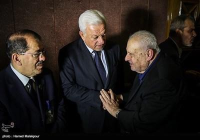 صلاح زواوی سفیر فلسطین و راجح صابر عبود الموسوی سفیر عراق در مراسم یادبود جلال طالبانی
