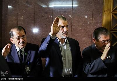 حسن داناییفر سفیر سابق ایران در عراق و ناظم دباغ نماینده اقلیم کردستان عراق در ایران در مراسم یادبود جلال طالبانی