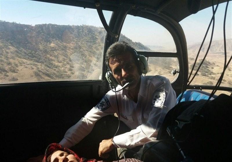 امداد رسانی به زن گرفتار در کوههای سختگذر مله برفی شهرستان باشت+تصاویر