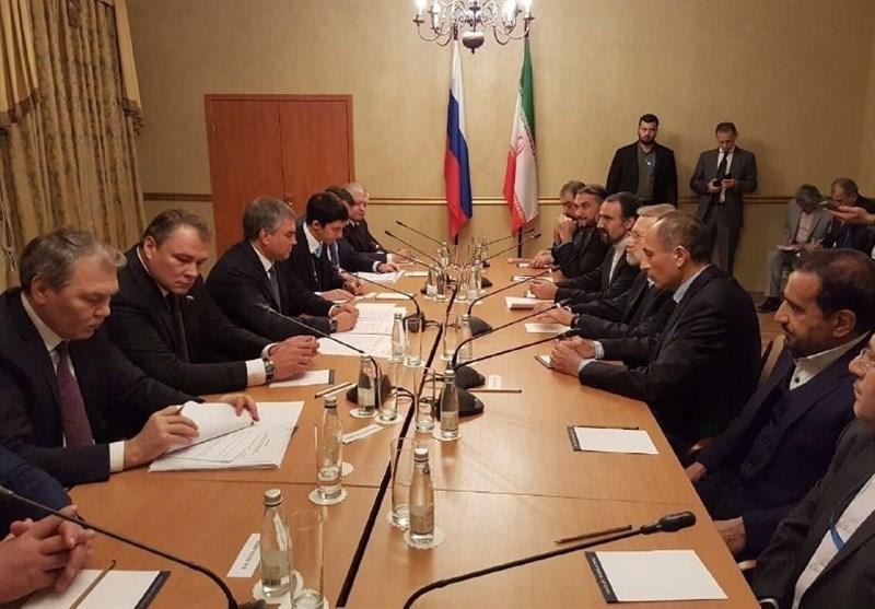 دیدار لاریجانی با رئیس دومای روسیه