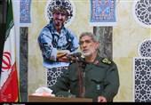 سردار قاآنی در بزرگداشت شهید مدافع حرم دامغان