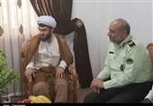 فرمانده انتظامی گیلان با آمر به معروف مضروب دیدار کرد + تصاویر