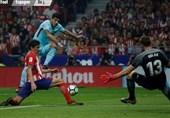 فرار بارسلونا از شکست مقابل اتلتیکو مادرید با ضربه سر سوارس