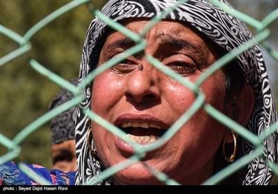 تشییع کشته شدگان درگیری ارتش هند و نیروهای معارض در کشمیر