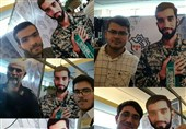 سلفی دانشجویان جدیدالورود با شهید حججی + تصویر