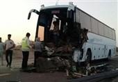 تصادف اتوبوس بم