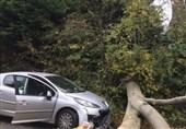 Storm Brian Clobbers Ireland, British Coastal Towns, Buildings Damaged