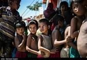 توزیع کمکهای مردمی ایران در بین آوارگان روهینگیایی + عکس و فیلم