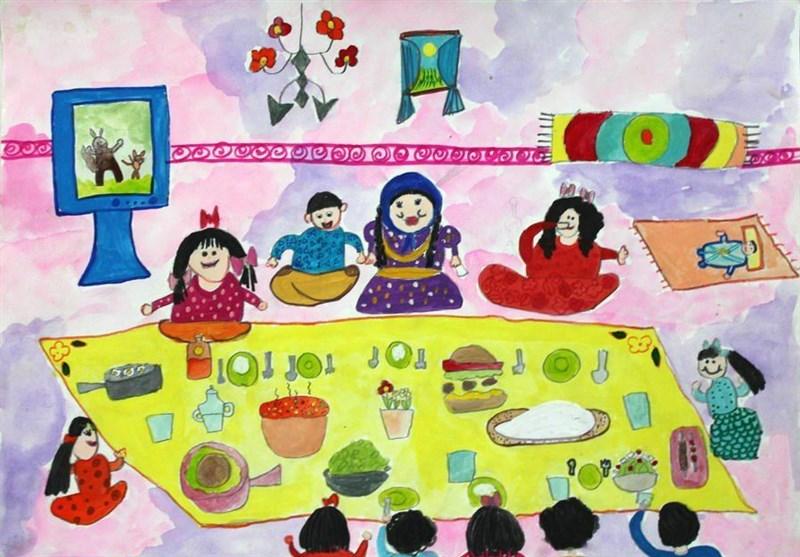 نقاشی کودک سقزی